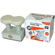 LNB Mascom Monoblock Single MCM4S01HD Gold 4,3° - Konvertor