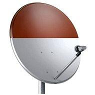 Telesystem satelitná železná parabola 82x72 cm červená, kartón - Parabola