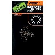 FOX Edges Kuro Coated Rig Rings Veľkosť S 2,5 mm 25 ks - Krúžok