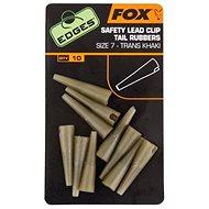 FOX Edges Slik Lead Clip Tail Rubber Trans Khaki Veľkosť 10 10 ks - Prevlek