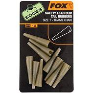 FOX Edges Lead Clip Tail Rubbers Veľkosť 7 Trans Khaki 10 ks
