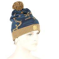RidgeMonkey – Kulich Camo Bobble Hat hnedo-modrá - Čiapka