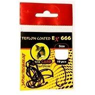 Extra Carp Teflon Hooks EX 666 Barbless Veľkosť 6 10 ks - Háčik