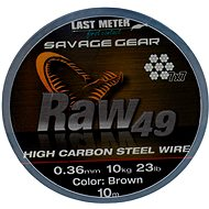 Savage Gear Raw49 0,36 mm 11 kg 24 lb 10 m Uncoated Brown