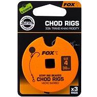 FOX Standard Chod Rigs Barbed Veľkosť 4 30 lb 3 ks - Nadväzec