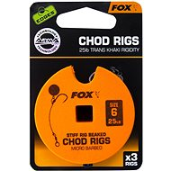FOX Standard Chod Rigs Barbed Veľkosť 6 25 lb 3 ks - Nadväzec