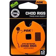 FOX Standard Chod Rigs Barbless Veľkosť 4 25 lb 3 ks - Nadväzec