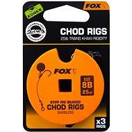 FOX Standard Chod Rigs Barbless Veľkosť 8 25 lb 3 ks - Nadväzec