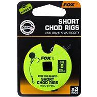 FOX Short Chod Rigs Barbed Veľkosť 8 25 lb 3 ks - Nadväzec