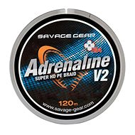 Savage Gear Šnúra HD4 Adrenaline V2 0,26 mm 37,5 lbs 17,1 kg 120 m Šedá - Šnúra