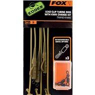 FOX Lead Clip Tubing Rigs + Kwik Change Kit Trans Khaki 3 ks - Montáž