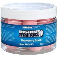 Nash Instant Action Strawberry Crush Pop Ups 18 mm 60 g - Plávajúce boilies