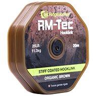 RidgeMonkey RM-Tec Stiff Coated Hooklink 35 lb 20 m Hnedá