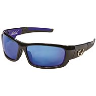 Mustad HP Polarized Sunglasses Black Frame + Smoke Lens with Blue Revo - Okuliare