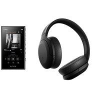 Set Sony MP4 16GB NW-A105L čierny + Sony Hi-Res WH-H910N čierne - Set