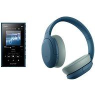 Sada Sony MP4 16GB NW-A105L modrý + Sony Hi-Res WH-H910N modrá - Sada