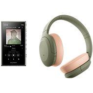 Sada Sony MP4 16GB NW-A105L zelený + Sony Hi-Res WH-H910N zeleno-telová - Sada
