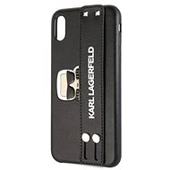 Karl Lagerfeld Head Hand Strap pro iPhone XR Black - Kryt na mobil