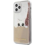 Karl Lagerfeld Liquid Glitter Peek a Boo pre Apple iPhone 12/12 Pro Pink - Kryt na mobil