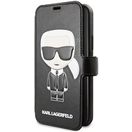 Karl Lagerfeld Ikonik Book pro iPhone 11 Black  - Puzdro na mobil