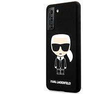 Kryt na mobil Karl Lagerfeld Iconic Full Body Silikónový Kryt na Samsung Galaxy S21+ Black - Kryt na mobil