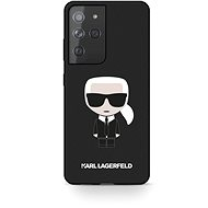 Kryt na mobil Karl Lagerfeld Iconic Full Body Silikónový Kryt na Samsung Galaxy S21 Ultra Black - Kryt na mobil