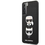 Kryt na mobil Karl Lagerfeld Saffiano K&C Heads Kryt na Samsung Galaxy S21 Black - Kryt na mobil