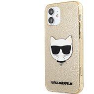 Karl Lagerfeld Choupette Head Glitter Kryt na Apple iPhone 12 mini Gold