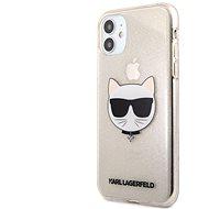 Karl Lagerfeld Choupette Head Glitter Kryt na Apple iPhone 11 Gold
