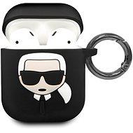 Karl Lagerfeld Silikonový Kryt pre Airpod Black - Puzdro