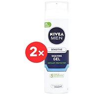 Gél na holenie NIVEA Men Shaving gel Sensitive 2× 200 ml - Gel na holení
