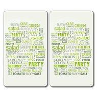 Kesper Multifunkčná doska zo skla motív: salad, 2 ks 52 × 30 cm - Doska na krájanie