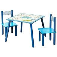 Kesper Sada – detský stolík s dvoma stoličkami – modrá - Detský nábytok