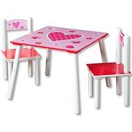 Kesper Sada detský stolík s dvomi stoličkami ružový - Detský nábytok