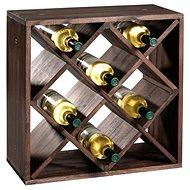 Kesper Stojan na víno, borovica tmavá 50 × 50 × 25 cm - Regál na víno