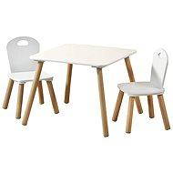 Kesper - Detský stolík s dvomi stoličkami, biely - Detský nábytok