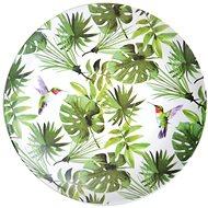 Kesper s dekorom tropických listov, plastový, priemer 25 cm - Tanier