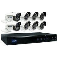 KGUARD hybridný 16-kanálový DVR rekordér + 8× farebná vonkajšia kamera - Kamerový systém