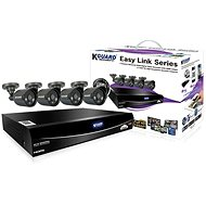 KGUARD hybridný 4-kanálový DVR rekordér + 4× farebná vonkajšia kamera - Kamerový systém