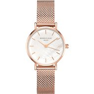 ROSEFIELD The Small Edit Rose gold mesh bracelet - Dámske hodinky