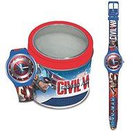 MARVEL Captain America – Tin Box 500655 - Detské hodinky