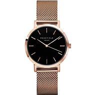 ROSEFIELD The Mercer Black Rose Gold - Women's Watch
