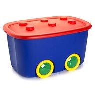 KIS Funny box L červený/modrý 46 l - Úložný box
