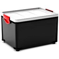 KIS Clipper Box L čierno-sivé veko 33 l - Úložný box