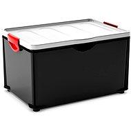 KIS Clipper Box XL čierny – sivé veko 60 l - Úložný box