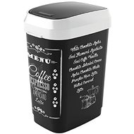 KIS Koš na odpad Dual Swing Bin Style M, Coffee menu, 25 l - Odpadkový kôš