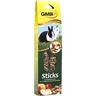 Gimbi Sticks Arašidy a jablko pre králiky 2 ks - Maškrty pre hlodavce