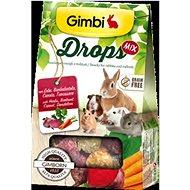 Gimbi Drops Grain free mix 50 g - Maškrty pre hlodavce