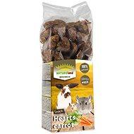 Nature Land Brunch Pochúťka srdiečka s mrkvou 150 g - Maškrty pre hlodavce