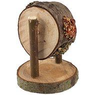 Nature Land Pochúťka Nibble koleso drevené plnené mrkvou, petržlenom a prosom 200 g - Doplnok stravy pre hlodavce